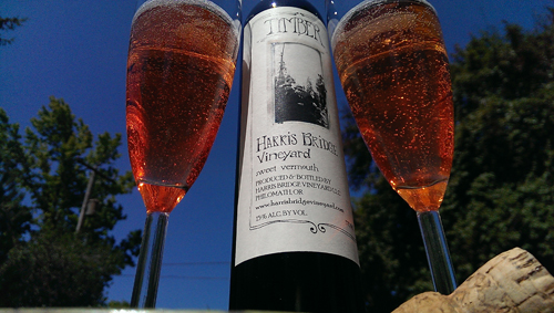 A twist on a Kir Royale: TIMBER Royale cocktail: TIMBER Sweet Vermouth | Sparkling Wine